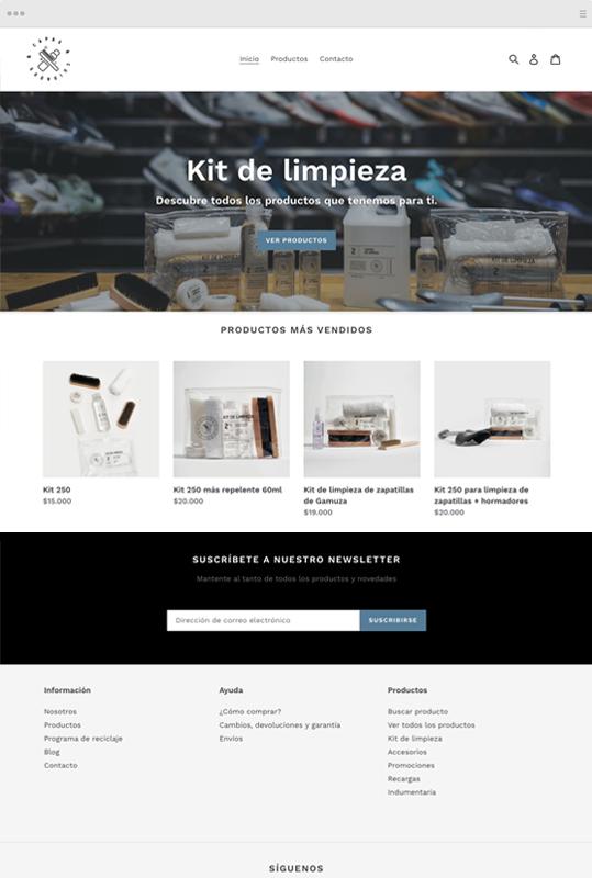 sitio web comercio electrónico